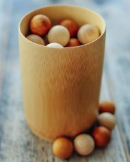natural bamboo cup loose parts