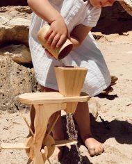 Wooden Water Wheel waterplay