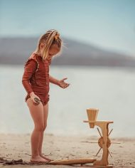 Wooden Water sand wheel play