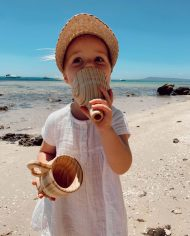 water play sensory wooden funnel