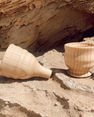 wooden funnel and cup set