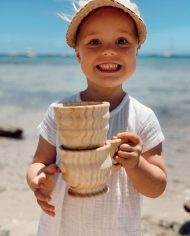 wooden funnel and cup set 2
