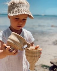 wooden funnel water sensory play