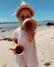wooden water funnel