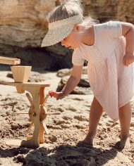 wooden water play wheel mill